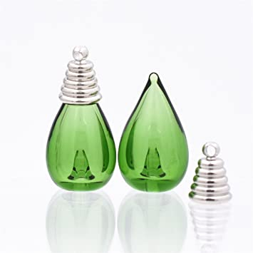 7 x Wasser Drop 26 x 13 mm farbige Glasur Glas Globe ätherisches Öl ...