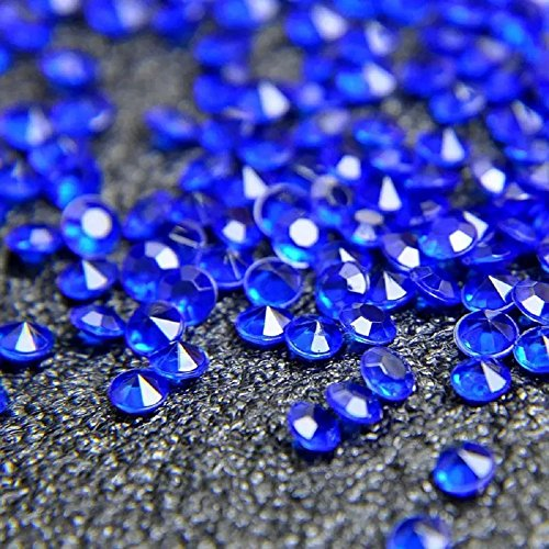 10000 Acrylic Crystals Diamonds Confetti Scatter Crystals Wedding Scatter Table Home Decoration 4.5mm (Royal Blue) by Miraise (Image #1)