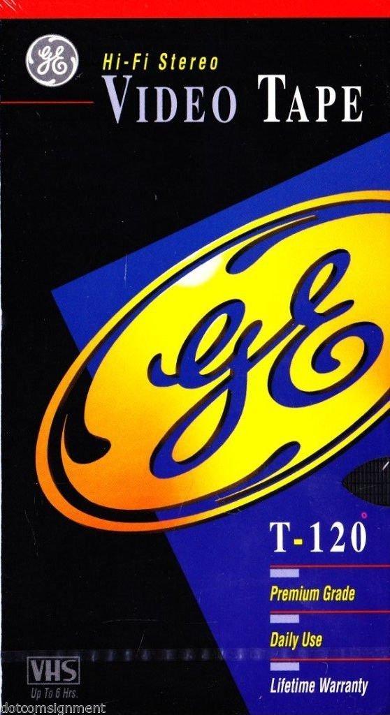 GE Hi-Fi Stereo T-120 Video Tape (Premium Grade) - 5 Pack by GE