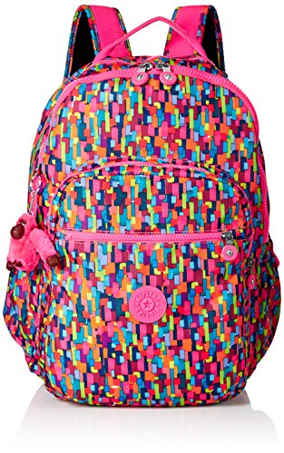 Kipling Seoul Go Laptop, Padded, Adjustable Backpack Straps, Zip Closure, Blooming Geo