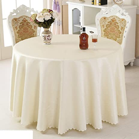 Amazoncom Hotel Round Tablecloth Fabric Restaurants Round - Fancy restaurant table