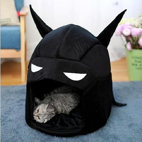 Zanteca - Cama de Batman para mascotas, portátil, cálida, para perro, gato