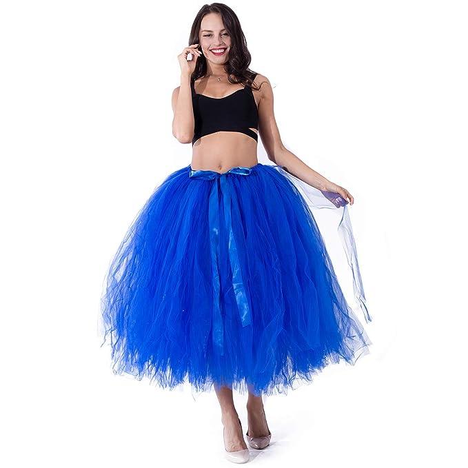 Zooma Falda de tutú de Las Mujeres Midi Tulle Faldas, Tul Mujer ...