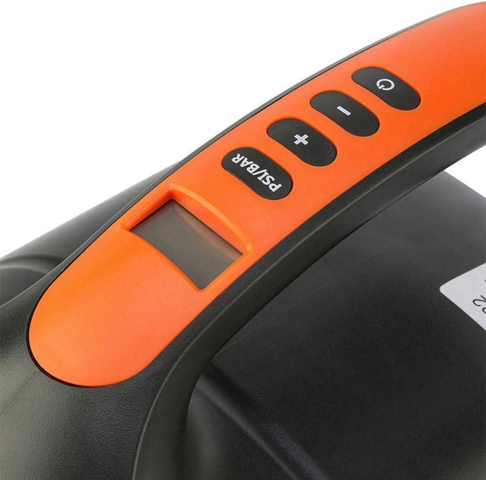 Aixgxt Pompe /à air /électrique /électrique de voiture avec 6 adaptateurs de soupapes de SUP 20 psi SUP Pompe /à air /électrique intelligente 12 V DC avec adaptateur de soupapes pour planche /à pagaie
