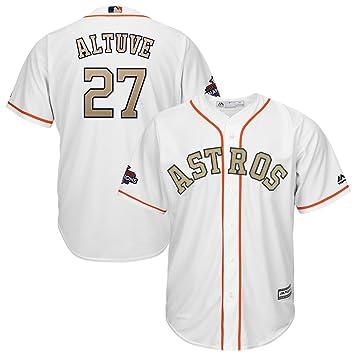 big sale ca77d b5a21 Majestic Athletic Men's Houston Astros Jose Altuve 2018 Gold ...