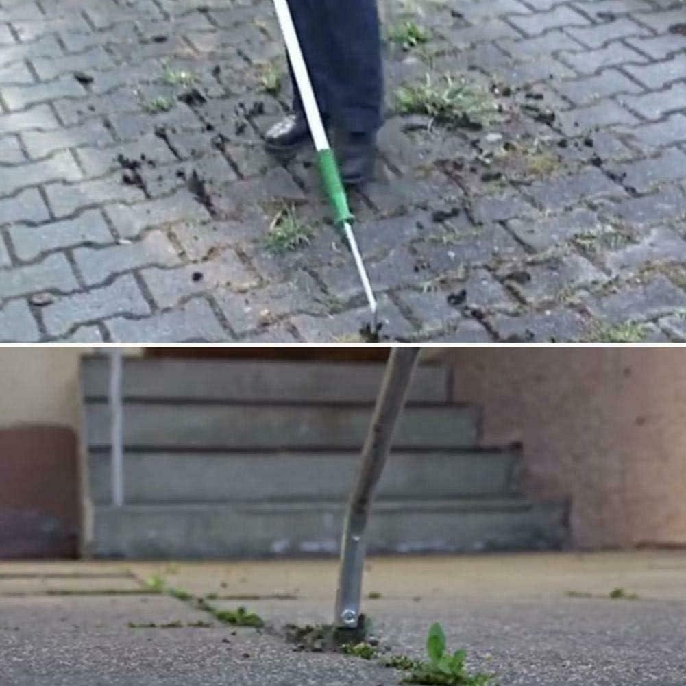 Weed Remover Scraper Tool for Patio Fixed Hand Scraper Knife Garden Telescopic Groove Weeder Slab Weeding Remover Weed Scraper Paving