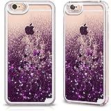 Cover Back Case Trasparente con Glitter Porpora per Apple iPhone 6