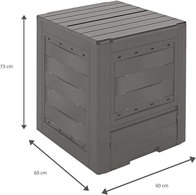 GARDIUN KIG12961 - Compostador Organic 260 L 60x60x73 cm Plástico ...