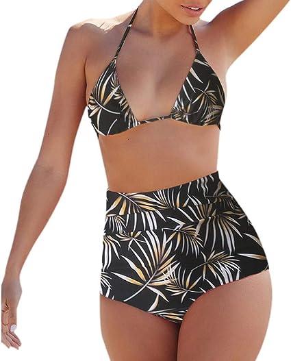 Peigen Women Floral Tankini Tummy Control Swimwear Tank Top Retro Printed Swimsuit Two Piece Bathing Suit