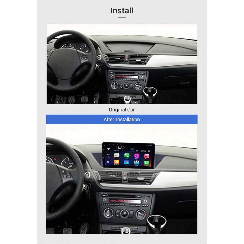 Radio Bluetooth HiFi Navegaci/ón GPS Lionet para CarBMW X1 E84 navegador GPS 2009-2015 10.1inch Android 6.0 4G Net 1G//16G en el salpicadero navegaci/ón GPS