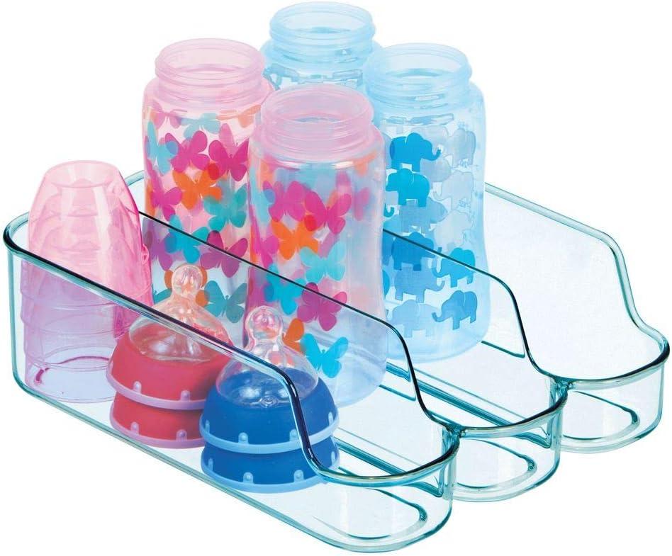 rangement /à bouteilles ouvert pour aliments cosm/étiques et jouets lot de 2 mDesign rangement cuisine compartiment/é pour aliments b/éb/é bleu oc/é petit rangement bouteilles /à 3 casiers