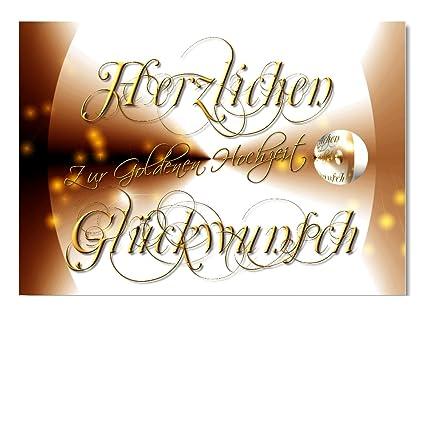 DigitalOase boda tarjeta tarjeta de felicitación para bodas de oro ...