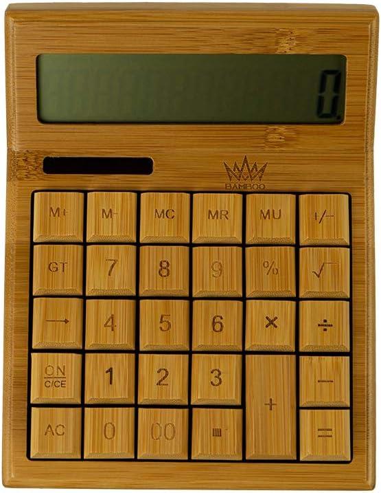 Bamboo King - Calculadora moderna de madera de bambú 100% natural