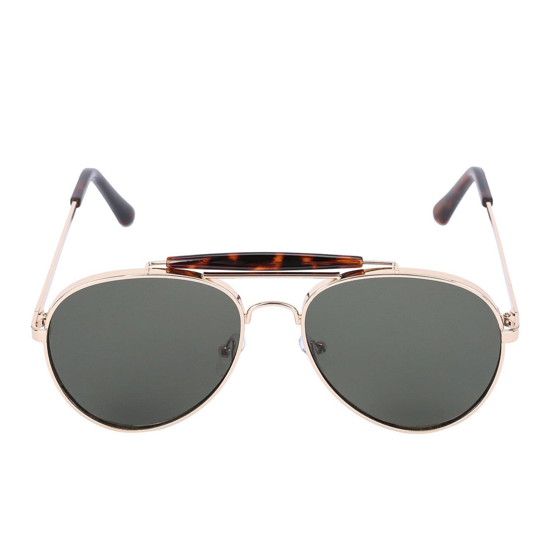 Summer Tide Mens Metal Box Aviator Sunglasses Sunglasses S|21721H505