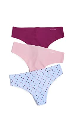 2302e1984231 Image Unavailable. Image not available for. Color: Calvin Klein Underwear  Women's Invisible Thong 3 Pack ...