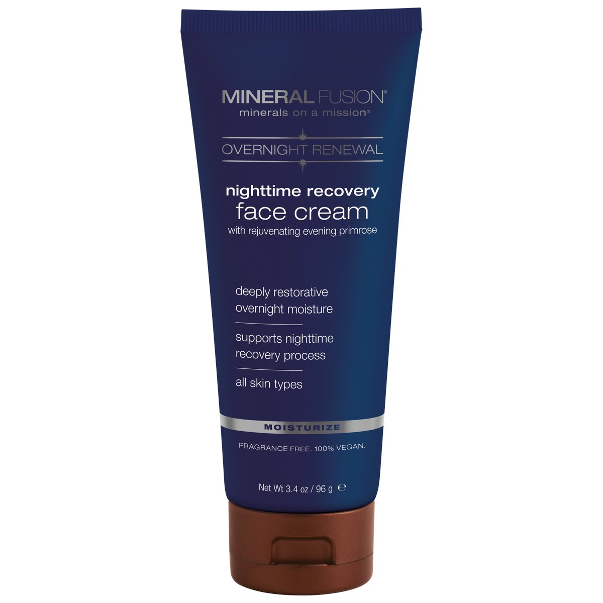 Mineral Fusion Overnight Renewal Night time Recovery Face Cream, 3.4 Ounce
