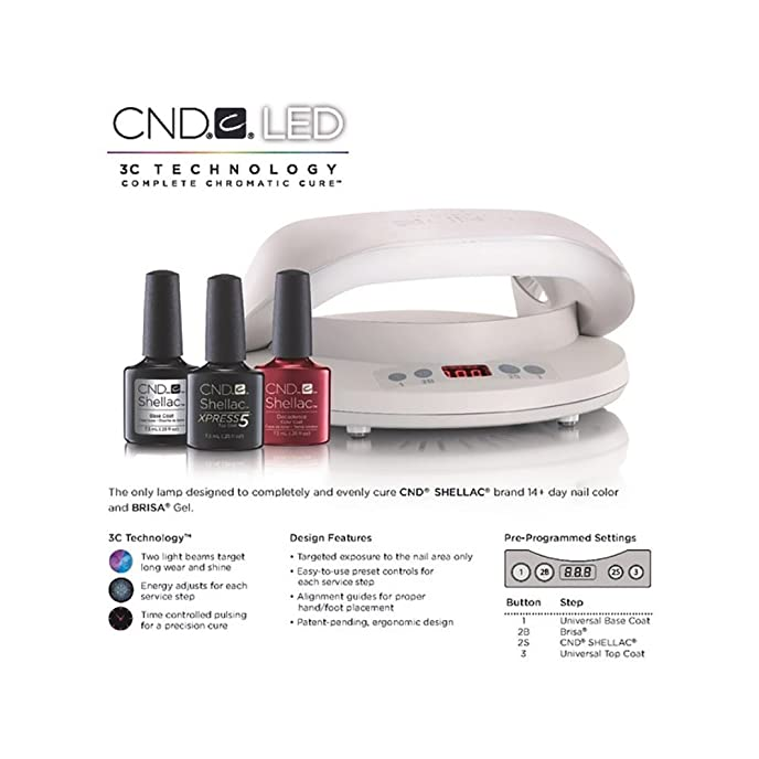 CND LED Professional UK Nail Lamp/Dryer for Shellac, Brisa & Gel ...