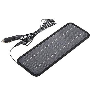 SODIAL 12V 4.5W Panel de Cargador Solar Cargador de Banco de ...
