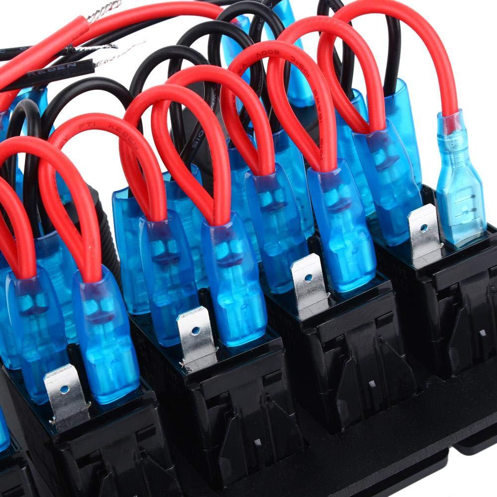 Pannello Interruttori a Levetta 6 Gang interruttore a bilanciere auto Impermeabile USB interruttore di reset per barca o auto
