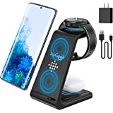 JoyGeek Wireless Charger for Samsung, 3 in 1 Wireless Charging Station for Samsung Galaxy Watch 3/Active 2/Gear S3, Galaxy S2