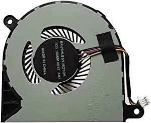 CPU Cooling Fan for Dell Inspiron 13 5368 5378 5379 7368 7375 7378,15 5568 5578 5579 7579 7569, Dell Latitude 3390 3379 2-in-1, DP/N 031TPT 01RX2P 4-Wire