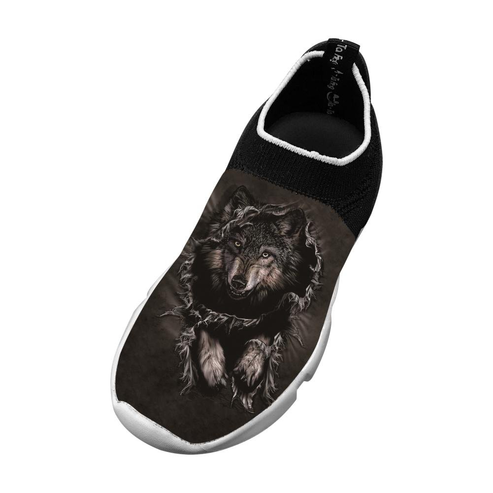 Wolf New Unique Flywire Weaving 3D Printing Gym Shoes For Boys Girls