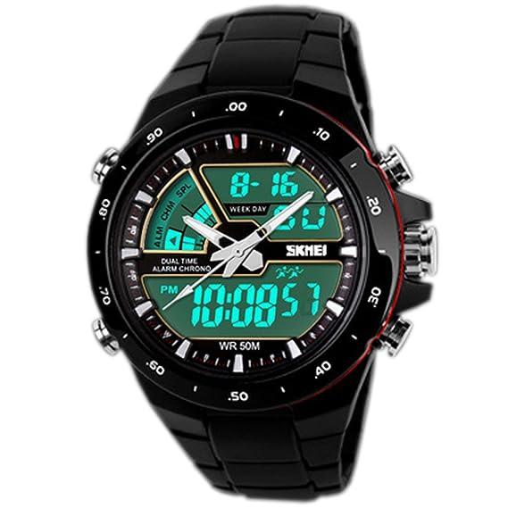 Das Beste Skmei Mode Multifunktions Digitale Uhr Wasserdichte Außen Sport Uhren Männer Kompass Countdown-alarm Led Armbanduhren Schnelle Farbe Uhren Herrenuhren