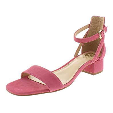 86cc986c1c Amazon.com | Vince Camuto Womens Shetana Suede Block Heel Dress Sandals  Pink 9 Medium (B, M) | Heeled Sandals