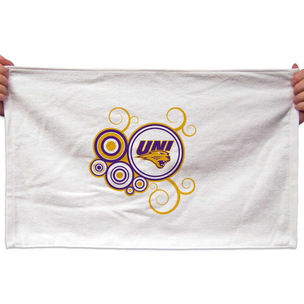 VictoryStore Towels - University of Northern Iowa Rally Towels, Swirl Design, Set of 3