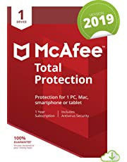McAfee Total Protection 2019, 1 Device, 1 Year, PC/Mac/Android/Smartphones [Online Code]