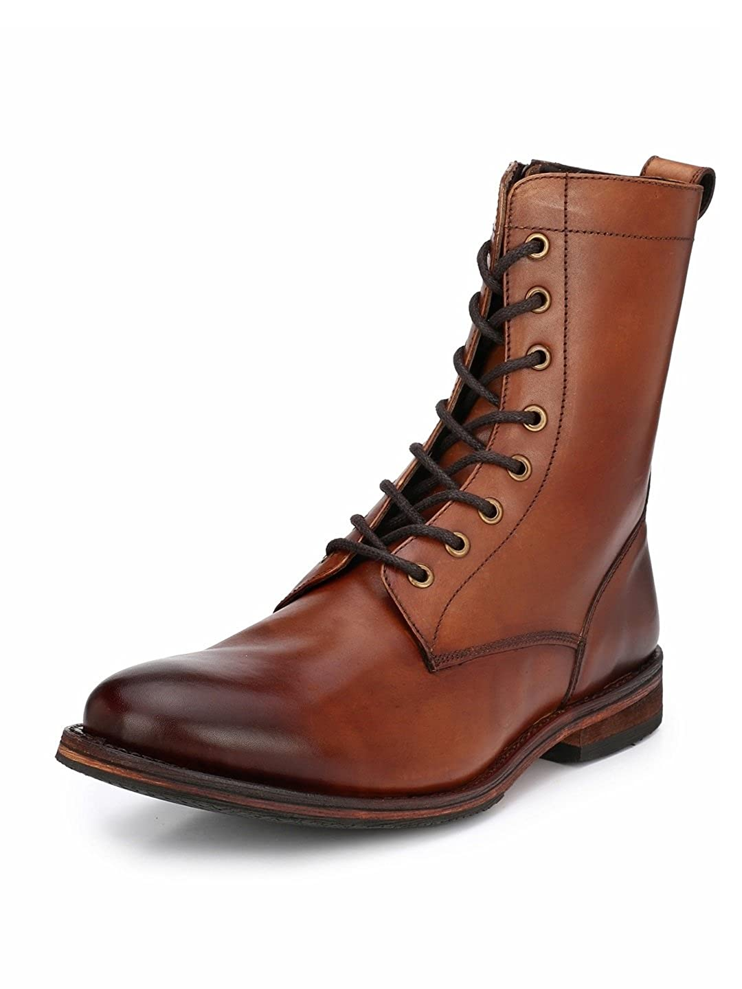 042ae105ffdda0 Harrykson London Men's Premium Andre Dark Cuir Leather Boots: Buy Online at  Low Prices in India - Amazon.in