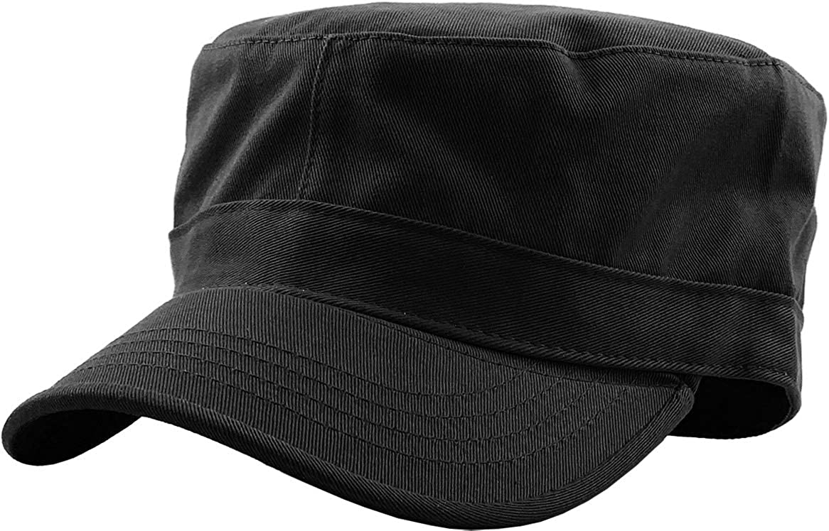 Cadet Army Cap Basic Everyday Military Style Hat (Now with STASH Pocket Version Available) at  Men's Clothing store