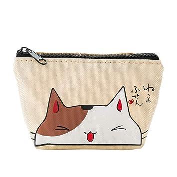 Mini cartera para mujer, monedero con forma de gato ...