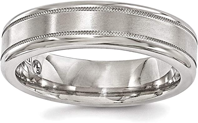 Wedding Bands Classic Bands Domed Bands Edward Mirell Titanium Polished 7mm Band Size 6.5