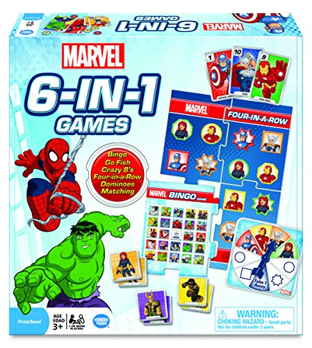 - Marvel 6-in-1 Game Collection Card Game