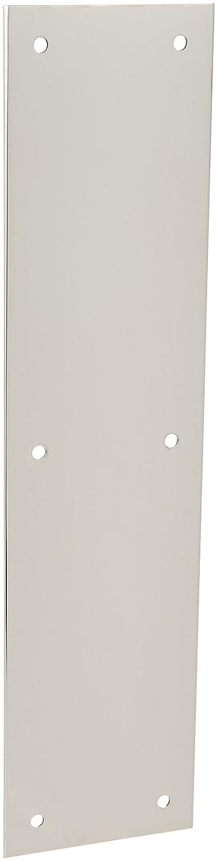 Baldwin 2121 3 Inch x 12 Inch Solid Brass Square Edge Push Plate Polished Chrome B009C96M3O