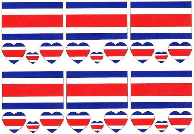 2018 Copa Mundial de Fútbol Nacional Banderas de tatuaje temporal, de moda en Costa Rica Banderas tatuaje de la cara etiqueta engomada del cuerpo de los ventiladores del fútbol ver fútbol Deportes 6