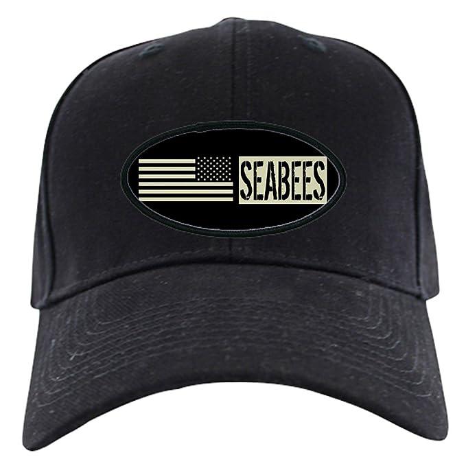 a9085cc96df Amazon.com  CafePress - U.S. Navy  Seabees (Black Flag) Black Cap ...