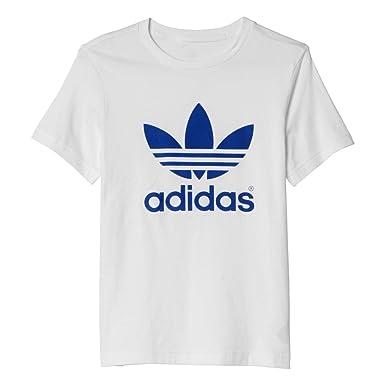 07ecdcea263a8 adidas Originals - Camiseta - para hombre Weiß mit blau Talla 12 Jahre    152  Amazon.es  Deportes y aire libre