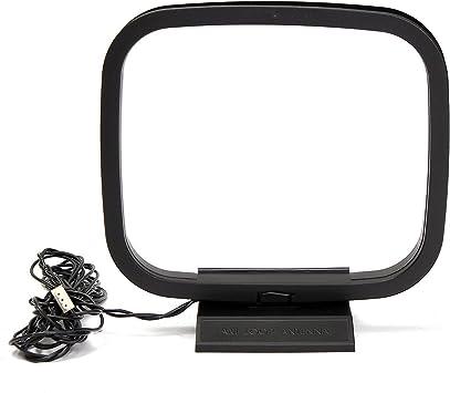 MECO FM AM Antena de Bucle HiFi con Mini Conector de 3 Pines para Sistemas de Receptores de Audio Sony Hifi Series AM Antena Receptor Estéreo de ...
