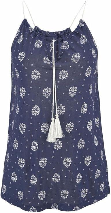 Fossen Blusas y Camisas de Mujer Verano Elegantes sin Mangas de Cordón - Elegante y Moda