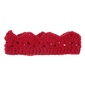 b6e931c7be6 Image Unavailable. Image not available for. Color  Royal Baby s Knit Crown  Hat - Red ...
