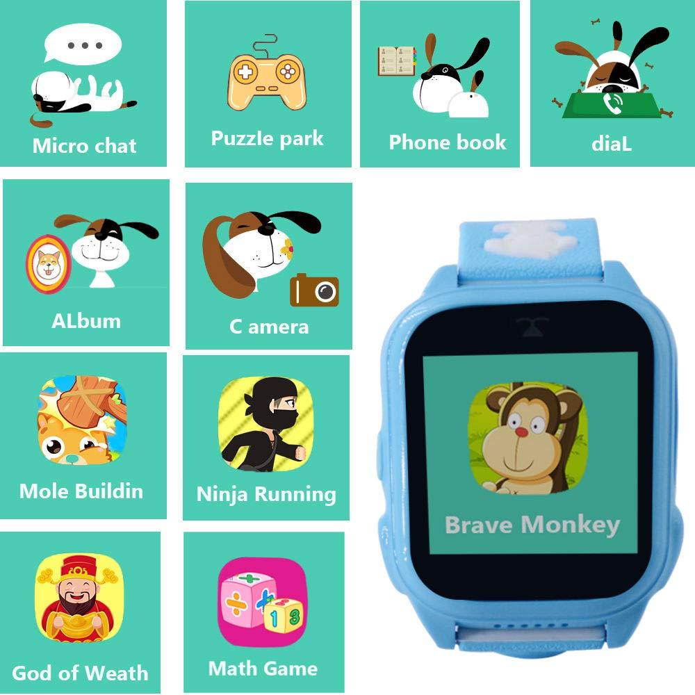 hangang GPS Tracker Kids 9 Giochi Kids Phone Smart Watch, Back School SmartWatch para 3 – 14 años niño niña One-Button SOS Camera Sport Outdoor ...