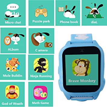 hangang GPS Tracker Kids 9 Giochi Kids Phone Smart Watch, Back School SmartWatch para 3 – 14 años niño niña One-Button SOS Camera Sport Outdoor ...