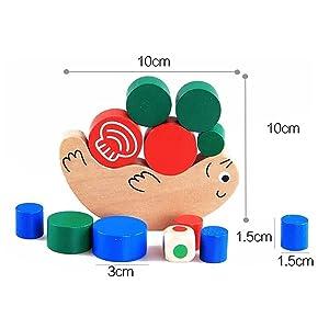 VANKER Caracol Equilibrio de apilado de madera de juguete Juego de nuevos niños del bebé temprano Educational Training
