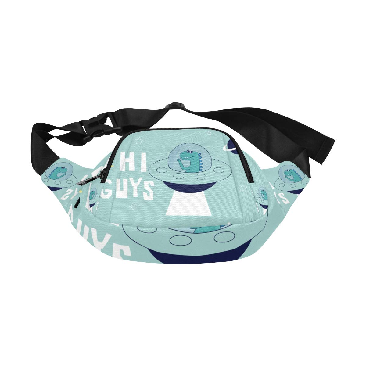 Astronaut Dinosaur In The Space Fenny Packs Waist Bags Adjustable Belt Waterproof Nylon Travel Running Sport Vacation Party For Men Women Boys Girls Kids