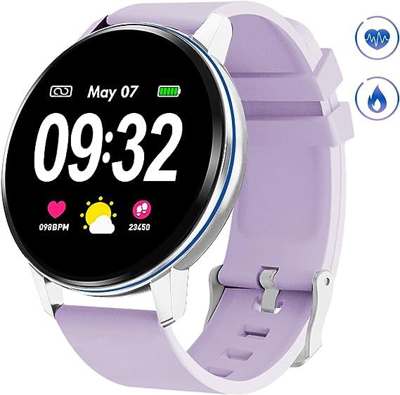 Amazon.com: GOKOO Reloj inteligente para mujer con ritmo ...