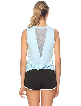 Promo-Codes Neupreis populärer Stil Abollria Sport Tops Damen Yoga Top Fitness Tank Top ...