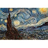 Pyramid Starry Night Poster Print