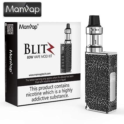 Cigarrillo electrónico Manvap® 80W E Cigarrillo Vape Mod con batería recargable 1500 mAh Repuestos de